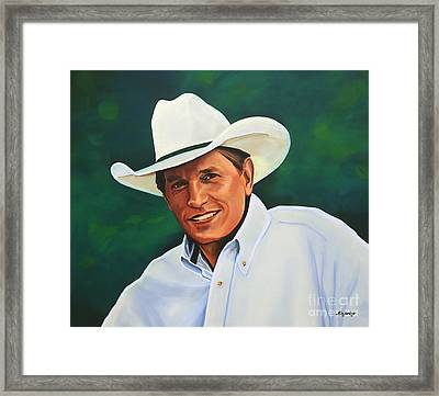 George Strait Framed Print by Paul Meijering