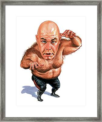 George The Animal Steele Framed Print by Art