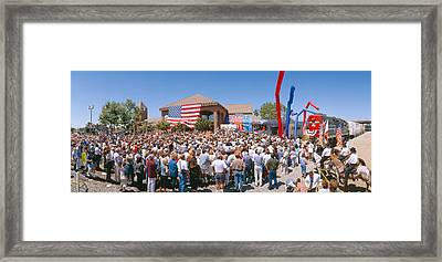 George W. Bush Campaign Whistle-stop Framed Print by Panoramic Images
