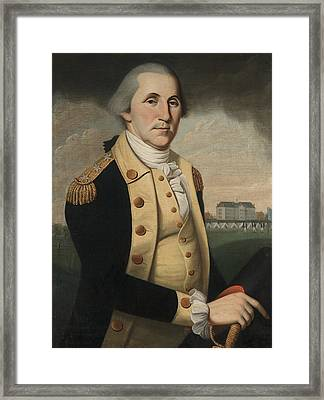 George Washington Framed Print by Charles Peale Polk