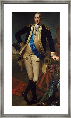 George Washington Framed Print by Charles Wilson Peale