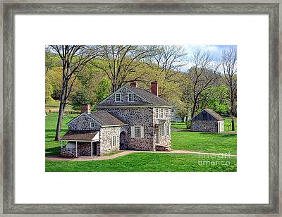 George Washington Headquarters At Valley Forge Framed Print by Olivier Le Queinec