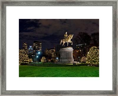 George Washington On The Common Framed Print by Joann Vitali