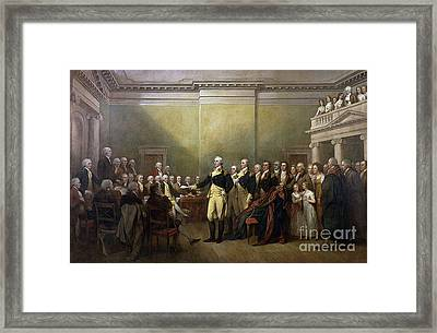 George Washington Resigning His Commission Framed Print by Baltzgar