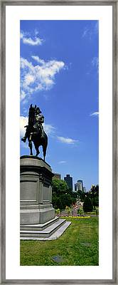 George Washington Statue In Boston Framed Print by Panoramic Images