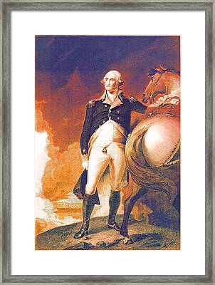 George Washington's Got It Going On Framed Print by Del Gaizo