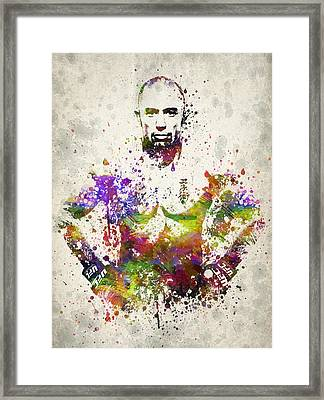 Georges St-pierre Framed Print by Aged Pixel