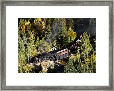 Georgetown Loop Railroad Framed Print by Adam Pender