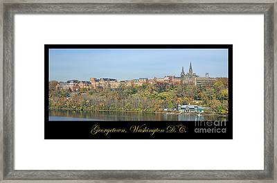 Georgetown Poster Framed Print by Olivier Le Queinec