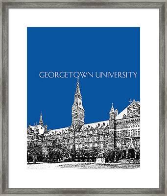 Georgetown University - Royal Blue Framed Print by DB Artist