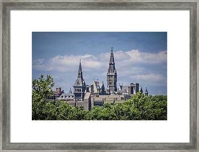 Georgetown University Framed Print by Bradley Clay
