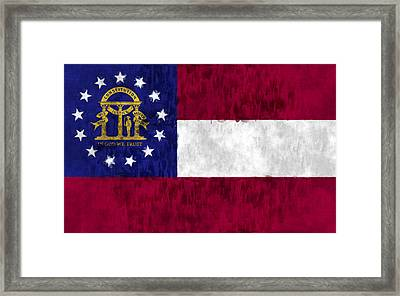 Georgia Flag Framed Print by World Art Prints And Designs