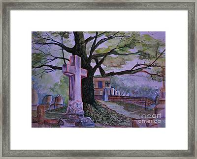 Georgia Graveyard  Framed Print by Janet Felts
