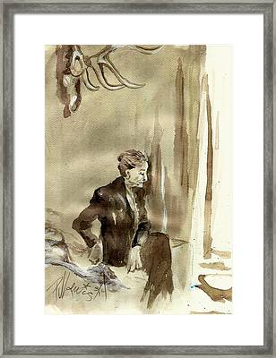 Georgia O'keeffe Framed Print by P J Lewis