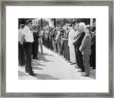 Georgia Prayer Vigil Framed Print by Underwood Archives