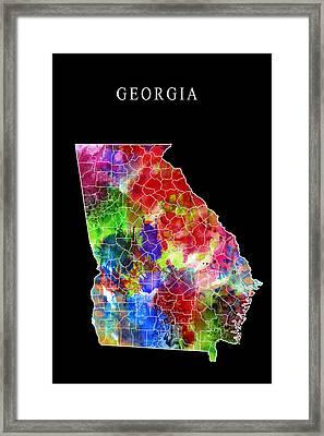 Georgia State Framed Print by Daniel Hagerman