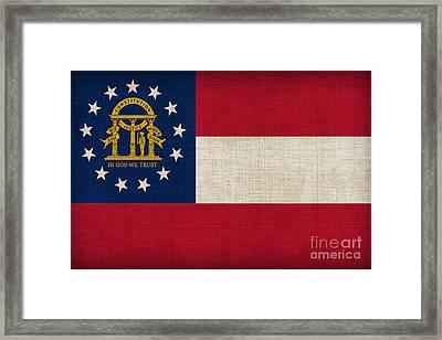 Georgia State Flag Framed Print by Pixel Chimp