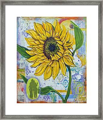 Georgia Sunflower Framed Print by Random Act aka Andrea LaHue