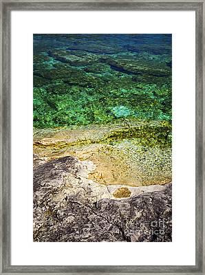 Georgian Bay Abstract I Framed Print by Elena Elisseeva
