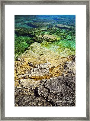 Georgian Bay Abstract II Framed Print by Elena Elisseeva