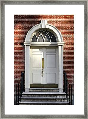 Georgian Door Framed Print by Olivier Le Queinec