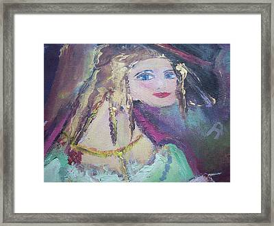 Georgiana And The Ring Framed Print by Judith Desrosiers