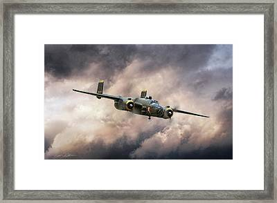 Georgie's Gal B-25 Framed Print by Peter Chilelli