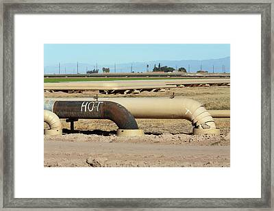 Geothermal Power Plant Framed Print by Jim West