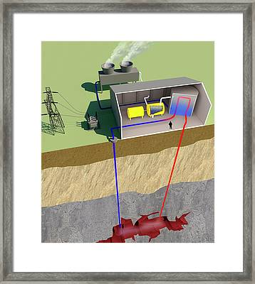 Geothermal Power Framed Print by Science Photo Library