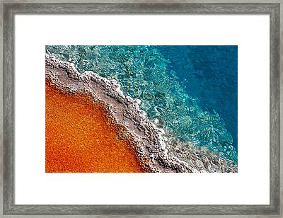 Geothermic Layers Framed Print by Todd Klassy