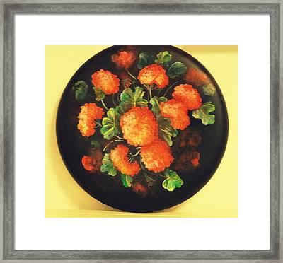 Geraniums Framed Print by Patricia Rachidi