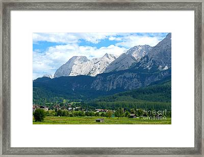 German Alps - Digital Painting Framed Print by Carol Groenen