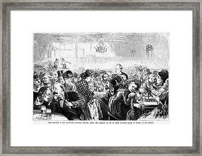 German Beer Hall Framed Print by Granger