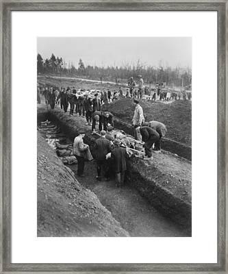 German Civilians Of Nordhausen Framed Print by Everett