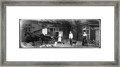German Farm 1850's Framed Print by Gerlinde Keating - Galleria GK Keating Associates Inc