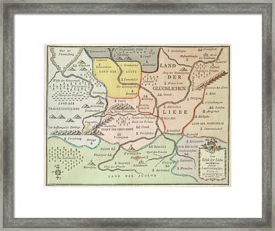 German Map Framed Print by British Library