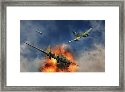 German Messerschmitt 262 Jetfighters Framed Print by Mark Stevenson