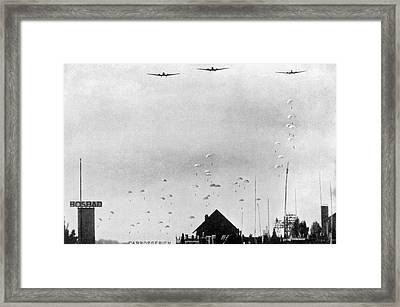 German Paratroopers In Holland Framed Print by Underwood Archives