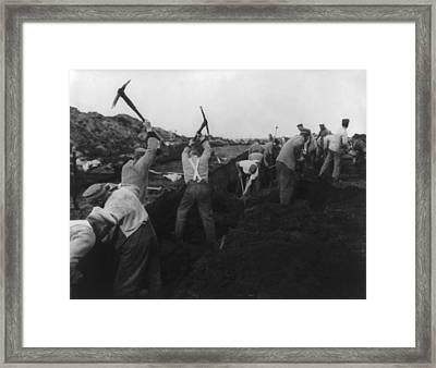 German Political Prisoners At Hard Framed Print by Everett