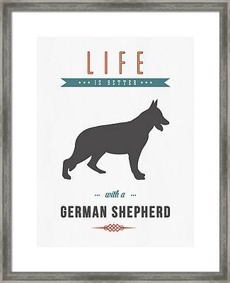 German Shepherd 01 Framed Print by Aged Pixel