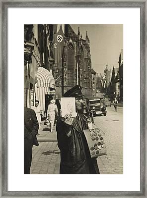 German Street Vendor Sells Nazi Framed Print by Everett