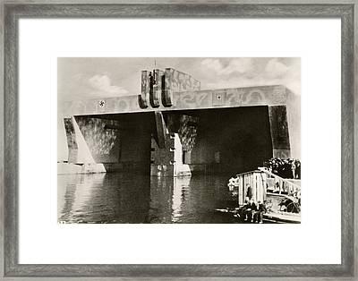 German U-boat Pens Framed Print by Eye On The Reich: German Propaganda Photographs/new York Public Library