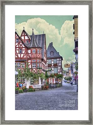German Village Along Rhine River Framed Print by Juli Scalzi