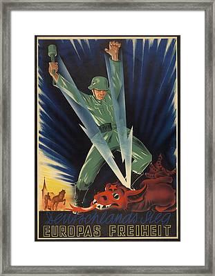 German World War 2 Poster. Deutschlands Framed Print by Everett