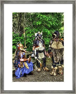 Germanics Barbarian Knights V1 Framed Print by John Straton