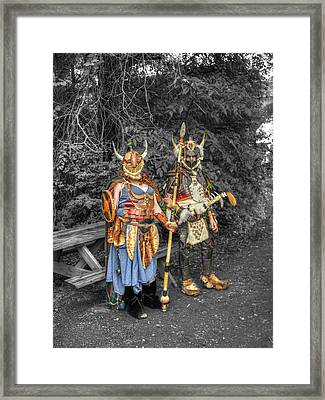 Germanics Barbarian Knights V2 Framed Print by John Straton