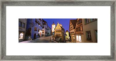 Germany, Rothenburg Ob Der Tauber Framed Print by Panoramic Images