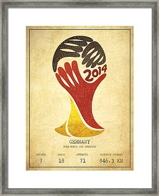 Germany World Cup Champion Framed Print by Aged Pixel