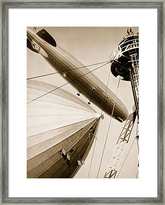 Germanys Two Mighty Airships, The Graf Framed Print by German Photographer