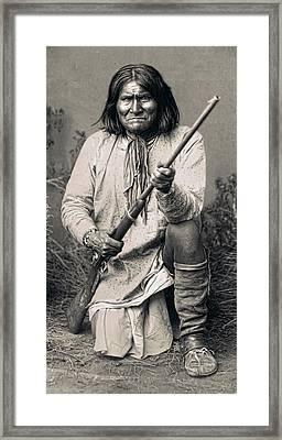 Geronimo - 1886 Framed Print by Daniel Hagerman
